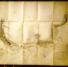 Mapas contemporáneos: PLANO DE 1886 DE LA COSTA DE GIJÓN. FERNANDO GARCÍA ARENAL. Lote 254413000