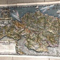 Mappe contemporanee: MAPA DE VIZCAYA POR G.H. OÑATIVIA. BANCO DE BILBAO. C. 1945. Lote 254734765