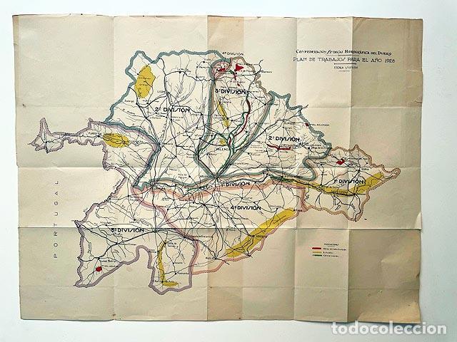CONFEDERACIÓN SINDICAL HIDROGRÁFICA DEL DUERO (MAPA PLEGADO. 1928. ESCALA 1/1.000.000. COLOR (Coleccionismo - Mapas - Mapas actuales (desde siglo XIX))
