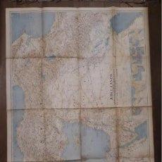Mapas contemporáneos: MAPA 90X62 CM BIBLE LANDA 1938 TIERRAS DE L BIBLIA PALESTINA. Lote 255644050