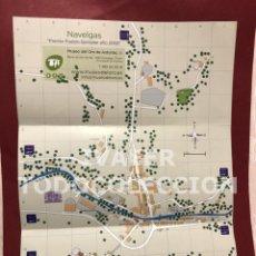 Mapas contemporáneos: MAPA NAVELGAS, TINEO, ASTURIAS, INFORMACION TURISTICA, EN INGLES, FRANCES Y ESPAÑOL. Lote 257556835