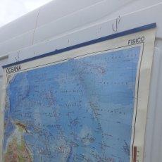 Mapas contemporáneos: ANTIGUO MAPA ESCOLAR OCEÁNIA EDIGOL BARCELONA 1976. Lote 258756115