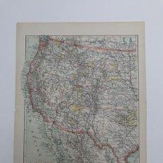 Mapas contemporáneos: MAPA SIGLO XX OESTE ESTADOS UNIDOS USA AMÉRICA 1900 CIRÍLICO - NIKKIN. Lote 259866420