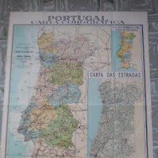 Mapas contemporáneos: MAPA PORTUGAL - CARTA COROGRAFICA. Lote 260070540