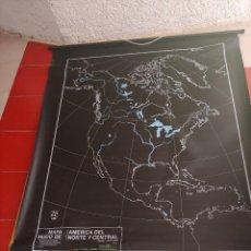 Mapas contemporáneos: MAPA MURAL MUDO A DOS CARAS AMERICA DEL SUR Y AMERICA DEL NORTE Y CENTRAL. Lote 261337955