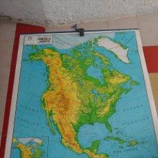 Mapas contemporáneos: MAPA MURAL A DOS CARAS AMERICA DEL NORTE. Lote 261661910