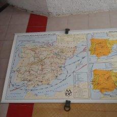 Mapas contemporáneos: MAPA MURAL A DOS CARAS LA PENINSULA IBERICA DURANTE LOS SIFLOS XVI Y XVII. Lote 261662200