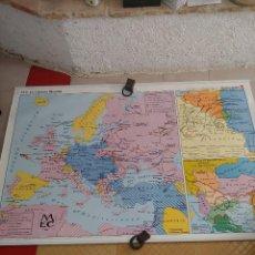 Mapas contemporáneos: MAPA MURAL A DOS CARAS LA 1 GUERRA MUNDIAL Y ASIA PRINCIPIOS S.XX. Lote 261662565