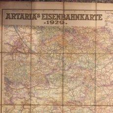 Mapas contemporáneos: MAPA ARTARIA'S EISENBAHNKARTE 1929, VERLAG BEARBEITER K. KLAMMER KART. ANSTALT G. FREYTAG. Lote 261695525