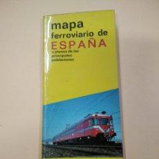Mapas contemporáneos: MAPA FERROVIARIO DE ESPAÑA RENFE 1974. Lote 261801575