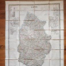 Mapas contemporáneos: MAPA LUGO, MONFORTE, MONDOÑEDO, GALICIA, COELLO, ORIGINAL, MADRID,1864, MAPA ENTELADO, GRAN TAMAÑO. Lote 261855675
