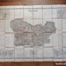 Mapas contemporáneos: MAPA ORENSE, RIBADAVIA, GALICIA, COELLO, ORIGINAL, MADRID,1856, MAPA ENTELADO, GRAN TAMAÑO. Lote 261855680
