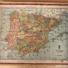 Mapas contemporáneos: MAPA PUZZLE ESPAÑA Y PORTUGAL. EN CAJA. CONSERVA 3 PUZZLES. AÑOS 50. Lote 262853185