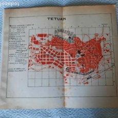Mapas contemporâneos: RARO PLANO MAPA TETUAN MARRUECOS VINTAGE 50,S. Lote 262941265