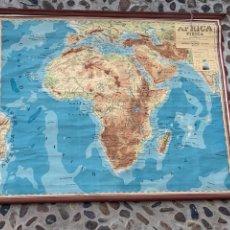Mapas contemporáneos: MAPA GEOGRAFICO AFRICA ENSEÑANZA EDUCACION MAGISTERIO VALLARDI ITALIA UFFICCIO CARTOGRAFICO 169X240C. Lote 263187755