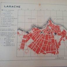 Mapas contemporâneos: MAPA PLANO VINTAGE 50'S LARACHE MARRUECOS ESPAÑOL. Lote 263256725