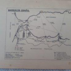 Mapas contemporâneos: MAPA PLANO VINTAGE 50' MARRUECOS ESPAÑOL. Lote 263264745