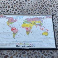 Mapas contemporáneos: MAPA MUNDO TEMPERATURAS CLIMA EDUCATIVO ENSEÑANZA JUSTUS PERTHES DARMSTADT ALEMANIA 143X220C. Lote 263301930