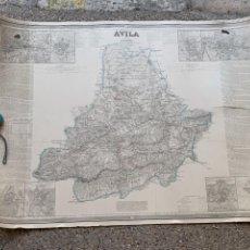 Mapas contemporáneos: MAPA PROVINCIA DE AVILA FRANCISCO COELLO PASCUAL MADOZ MADRID 1864 77X103CMS. Lote 263304160