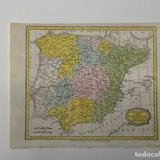 Mapas contemporáneos: MAPA ANTIGUO SIGLO XIX PENÍNSULA IBÉRICA ESPAÑA PORTUGAL 1807 - JOHN BARLOW. Lote 265202789