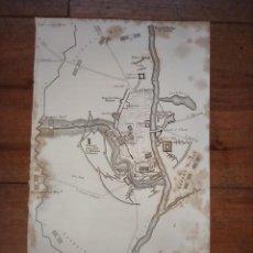 Mapas contemporáneos: INFRECUENTE MAPA SITIO ZARAGOZA 1808 Y 1809, GUERRA INDEPENDENCIA, ORIGINAL, 1829. LONDRES, NAPIER.. Lote 265360564