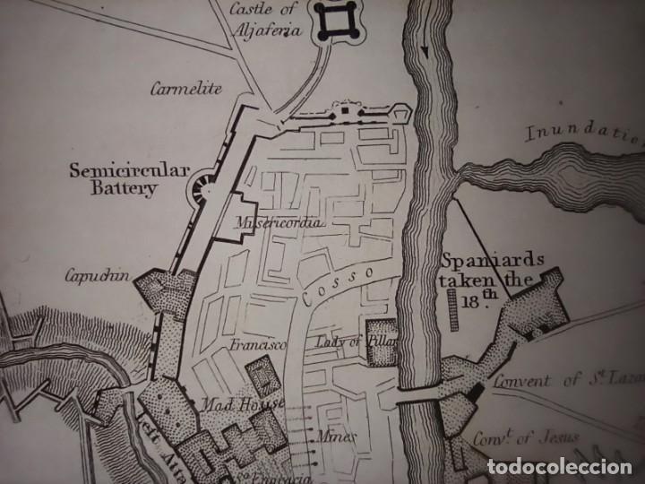 Mapas contemporáneos: INFRECUENTE MAPA SITIO ZARAGOZA 1808 Y 1809, GUERRA INDEPENDENCIA, ORIGINAL, 1829. LONDRES, NAPIER. - Foto 7 - 265360564