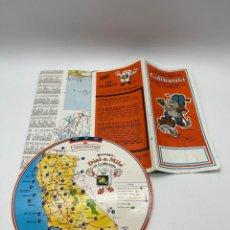 Mapas contemporáneos: ANTIGUO MAPA Y DISCO MILLAS DE CALIFORNIA AÑO 1981. Lote 265656299