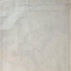 Mapas contemporáneos: MAPA COSTERO. ISLAS DE IBIZA Y FORMENTERA. ISLAS BALEARES. 1900. Lote 297112208