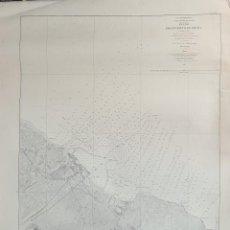 Mapas contemporáneos: MAPA COSTERO. PUERTO DE DENIA. VALENCIA. COSTA ORIENTAL. MAR MEDITERRANEO.1879.. Lote 297112388