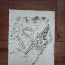Mapas contemporáneos: MAPA OPERACIONES DE SUCHET, ZARAGOZA, GUERRA INDEPENDENCIA, ORIGINAL, 1831. LONDRES, NAPIER.. Lote 266376188