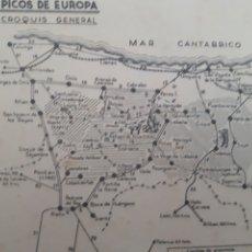 Mapas contemporâneos: MAPA PICOS DE EUROPA. VINTAGE 50'S. Lote 266515143