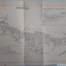 Mapas contemporâneos: MAPA VINTAGE PIRINEOS Y ORDESA PARQUE NACIONAL HUESCA. Lote 266517328
