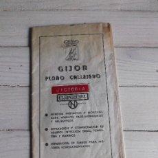 Mapas contemporáneos: PLANO CALLEJERO GIJÓN 1975 - GIJONDIESEL. Lote 267288724