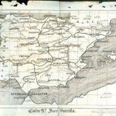 Mapas contemporáneos: NUMULITE A3 MAPA DE ESPAÑA CABO 2º JOSÉ SUREDA ANTONIO VEGA 1881 GRABADO. Lote 268886584