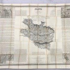 Mapas contemporáneos: ATLAS DE ESPAÑA Y SUS POSESIONES DE ULTRAMAR. ALAVA. FRANCISCO COELLO. AÑO 1848. Lote 269610158