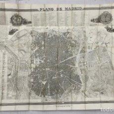 Mapas contemporáneos: ATLAS DE ESPAÑA Y SUS POSESIONES DE ULTRAMAR. FRANCISCO COELLO. 1849. PLANO DE MADRID. Lote 269612358