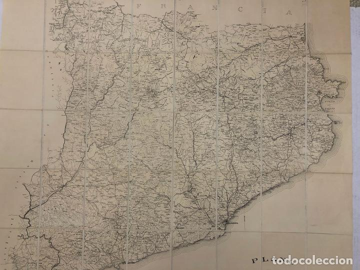 Mapas contemporáneos: PLANO DE CATALUÑA PUBLICADO POR R.M. 1894. ESCALA 1:300.000. REVERSO ENTELADO. RAMON MORERA - Foto 3 - 269620403