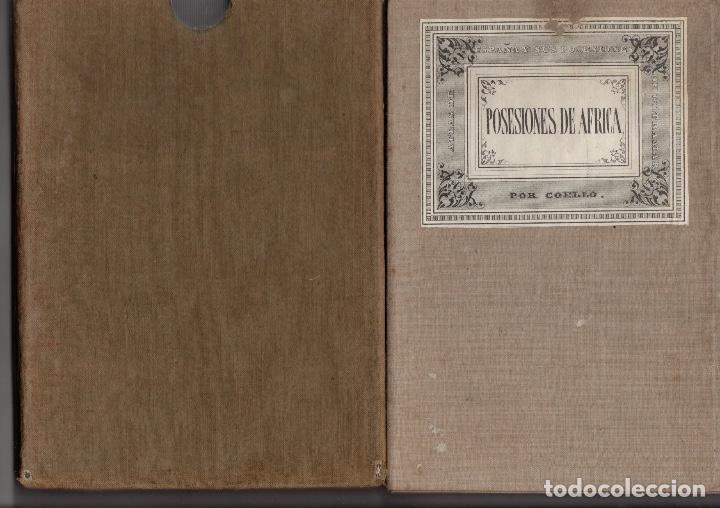 MAPA POSESIONES DE AFRICA. POR COELLO Y MADOZ, AÑO 1850 (Coleccionismo - Mapas - Mapas actuales (desde siglo XIX))