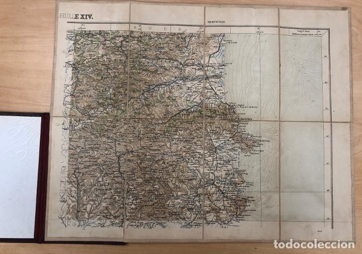 Mapas contemporáneos: CARTE DE FRANCE DRESSEE AU DEPOT DES FORTIFICATIONS. AÑO 1887. 4 MAPAS, EN ESTUCHE ORIGINAL - Foto 2 - 269625978
