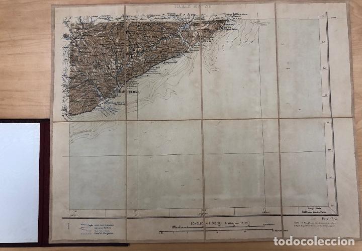 Mapas contemporáneos: CARTE DE FRANCE DRESSEE AU DEPOT DES FORTIFICATIONS. AÑO 1887. 4 MAPAS, EN ESTUCHE ORIGINAL - Foto 4 - 269625978