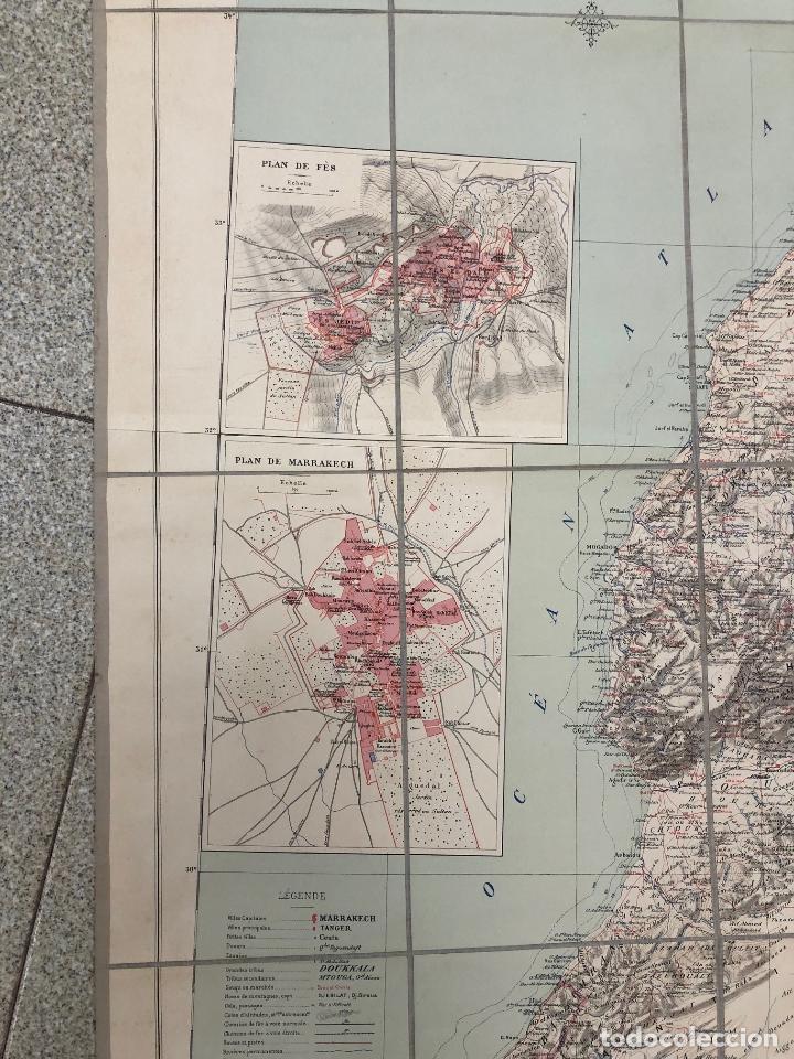 Mapas contemporáneos: MAPA MARRUECOS. MAROC. CARTE DRESSEE SOUS LA DIRECTION DE HENRY BARRERE. 1913. EN ESTUCHE ORIGINAL - Foto 2 - 269628468