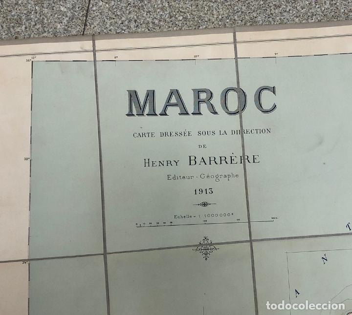 Mapas contemporáneos: MAPA MARRUECOS. MAROC. CARTE DRESSEE SOUS LA DIRECTION DE HENRY BARRERE. 1913. EN ESTUCHE ORIGINAL - Foto 4 - 269628468