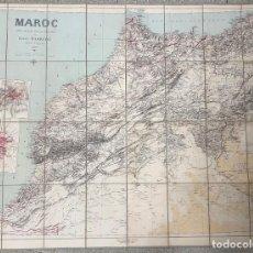 Mapas contemporáneos: MAPA MARRUECOS. MAROC. CARTE DRESSEE SOUS LA DIRECTION DE HENRY BARRERE. 1913. EN ESTUCHE ORIGINAL. Lote 269628468