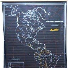 Mapas contemporáneos: MAPA MURAL CONTINENTE AMERICANO PIZARRA NEGRO PARA TIZA. Lote 269657538