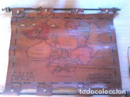 MAPA DE JUJUY ARGENTINA EN CUERO (Coleccionismo - Mapas - Mapas actuales (desde siglo XIX))