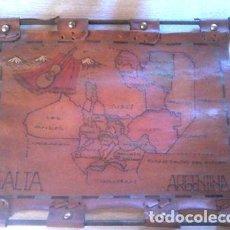 Mapas contemporáneos: MAPA DE JUJUY ARGENTINA EN CUERO. Lote 269665773