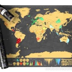 Mapas contemporáneos: MAPA PARA RASPAR VIAJE MAPAMUNDI SCRATCH DELUXE 82X59 GRANDE. Lote 269666648