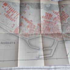 Mapas contemporâneos: ALICANTE MAPA/PLANO 1914 EDICION ESPAÑOLA. Lote 269821148