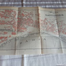 Mapas contemporâneos: SANTANDER MAPA/PLANO 1914 EDICION ESPAÑOLA. Lote 269824603