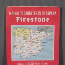 Mapas contemporáneos: MAPAS DE CARRETERAS DE ESPAÑA FIRESTONE - NÚMERO 1, PRIMERA EDICIÓN AÑOS 50. Lote 270153278
